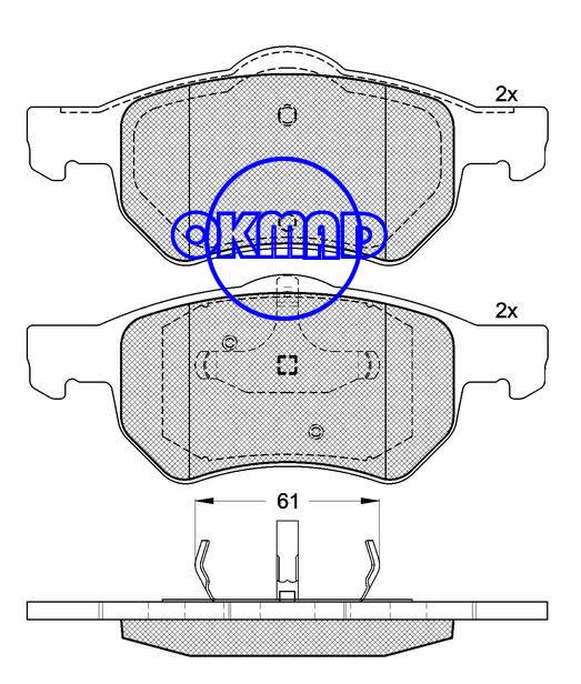 CHRYSLER GRAND VOYAGER DODGE CARAVAN (RG_) DONGNAN (SOUEAST) GRAND VOYAGER MPV Brake pad FMSI:7966-D1059 OEM:05072215AA