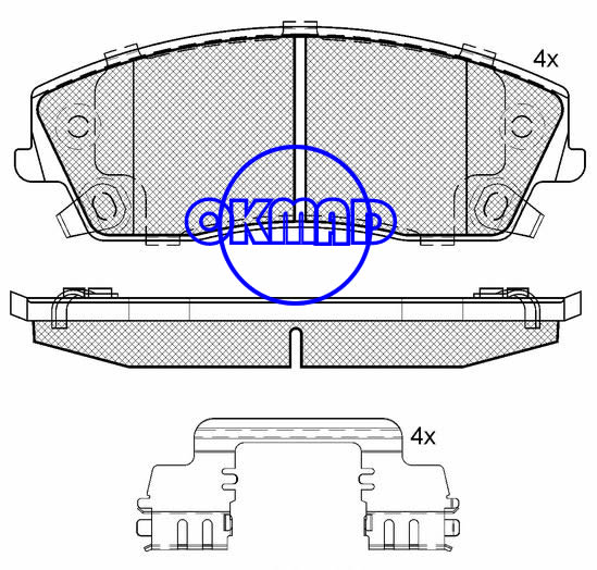 CHRYSLER 300 C 300 RWD DODGE Challenger SE Charger Magnum Brake pad FMSI:7962-D1056 OEM:5142555AA WVA:24166,F1056