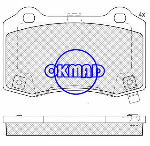 CADILLAC CTS CHEVROLET Camaro DODGE Challenger SRT8 Magnum SRT8 JEEP Grand Cherokee Brake pad FMSI:7958-D1053 OEM:5174327AC