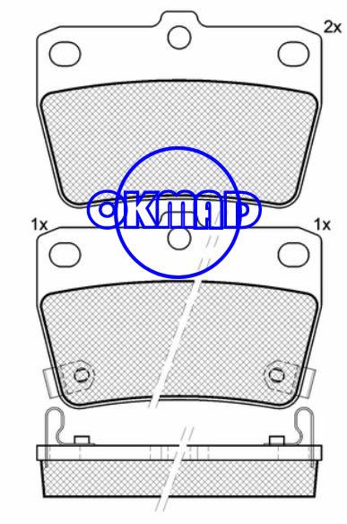 CHERY TIGGO 3 TOYOTA RAV 4 Mk II Brake pad FMSI:7955-D1051 OEM:04466-42010 FDB1531 TRW:GDB3279 WVA:23656,F1051