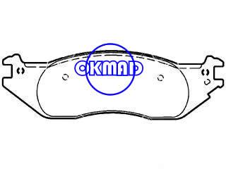 FORD TRUCK E-150 Club Wagon Econoline (Latin America) Brake pad FMSI:7948-D1045 OEM:4C2Z-2001-AA,F1045