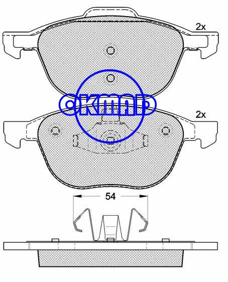 FORD C-MAX ECOSPORT FOCUS HAIMA 3 Saloon MAZDA 3 VOLVO C30 C70 S40 V40 V50 Brake pad FMSI:7947-D1044 OEM:30683554 FDB1594 TRW:GDB1583