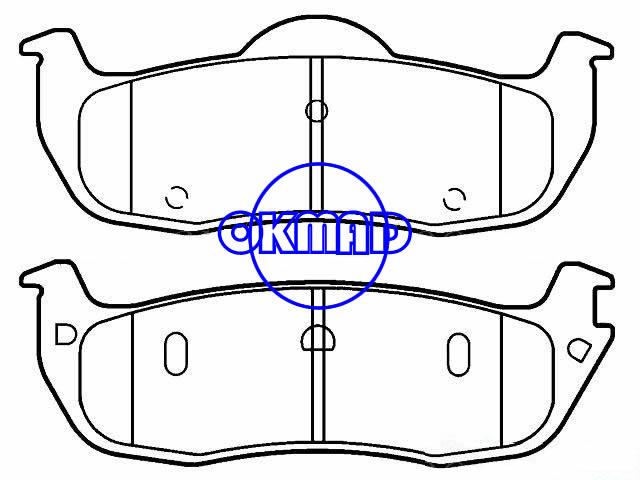 NISSAN Armada Pathfinder Armada Titan INFINITI QX56 Brake pad FMSI:7945-D1041 OEM:44060-7S025 WVA:24111,F1041