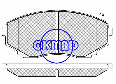 MAZDA E-SERIE Box MAZDA MPV I II 4WD Brake pad FMSI:7941-D1038/7430-D551 OEM:CBZ2-33-22Z FDB1445 TRW:GDB1177/GDB3255/GDB3326 WVA:23515,F1038