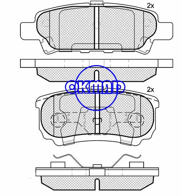 CHRYSLER DODGE AVENGER PATRIOT MITSUBISHI LANCER Brake pad FMSI:7940-D1037 OEM:05191271AA