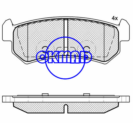 BUICK EXCELLE CHEVROLET DAEWOO AVEO Saloon LACETTI NUBIRA Estate Brake pad FMSI:7939-D1036 OEM:96405131