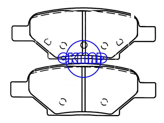 CHEVROLET Cobalt Sport Malibu Maxx Brake pad FMSI:7937-D1033/8286-D1033 OEM:10365723