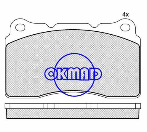 VOLVO S60 R V70 R Brake pad FMSI:7919-D1016 OEM:3 064 513-52 TRW:GDB1608 GDB2007 WVA:23092