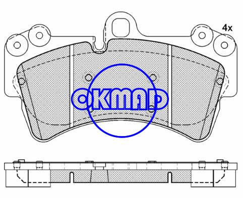 AUDI Q7 PORSCHE Cayenne GTS Turbo VW Touareg Brake pad FMSI:7878-D1014 8366-D1014 7878-D977 OEM:7L0 698 151 E FDB1626 TRW:GDB1548 WVA:23693, F1014