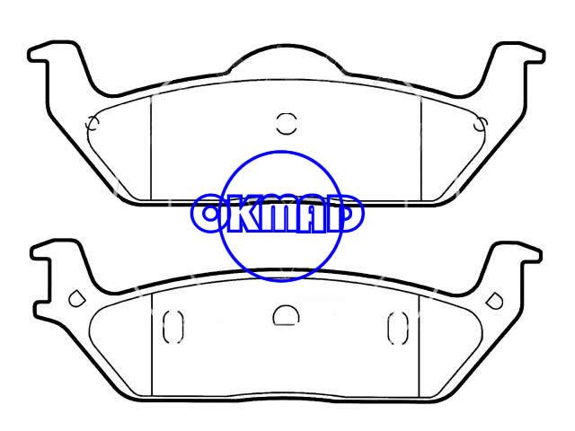 FORD TRUCK F-150 Laria LINCOLN Mark LT Brake pad FMSI:7916-D1012 OEM:4L3Z-2200-AB, F1012