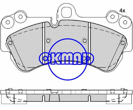 PORSCHE Cayenne VW Touareg Brake pad FMSI:7911-D1007 OEM:7L6 698 151 C FDB1625 TRW:GDB1547 GDB1720 WVA:23692, F1007