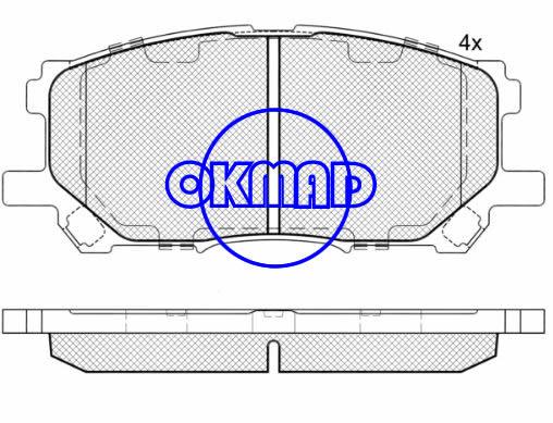 LEXUS RX330 RX350 RX400h TOYOTA Highlander Hybrid Brake pad FMSI:7906-D1005 OEM:04465-0W070 C FDB1715 TRW:GDB3338 GDB3397 WVA:23989 23734, F1005