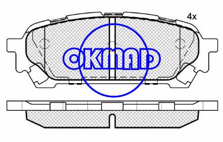SUBARU Impreza WRX Estate Saloon Forester SAAB 9-2X Brake pad FMSI:7905-D1004 OEM:320 06 220 WVA:24331, F1004