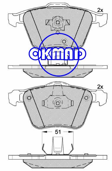 VOLVO S80 II (AS) XC90 I Brake pad FMSI:7904-D1003 OEM:2 743 31 WVA:23680 23681 24141 24142 FDB1631 TRW:GDB1565, F1003