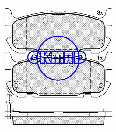 MAZDA MX-5 II (NB) Miata Sport Brake pad FMSI:7903-D1002 OEM:NCY3-26-43Z WVA:24029, F1002