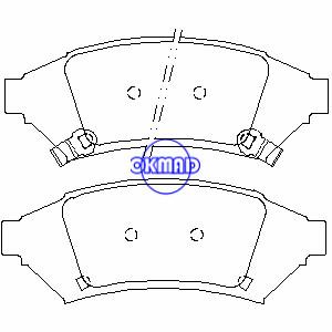 PONTIAC Grand Prix 2004 Brake pad FMSI:7901-D1000 OEM:18048676 WVA:24859, F1000