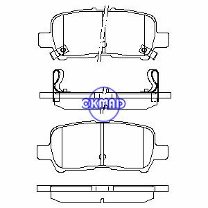 BUICK Allure LaCrosse CHEVROLET Impala PONTIAC Grand Prix Brake pad FMSI:7900-D999 OEM:18048690(中)