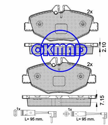 MERCEDES BENZ E-CLASS (W211) (W212) (S211) E320 CDI Brake pad FMSI:7889-D987 8517-D987 OEM:003 420 65 20 WVA:23743, F987