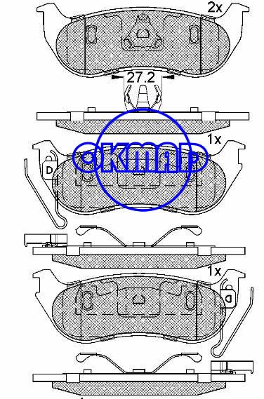 JEEP CHEROKEE WRANGLER II Unlimited Liberty Brake pad FMSI:7863-D981 OEM:5083882AC WVA:24335, F981