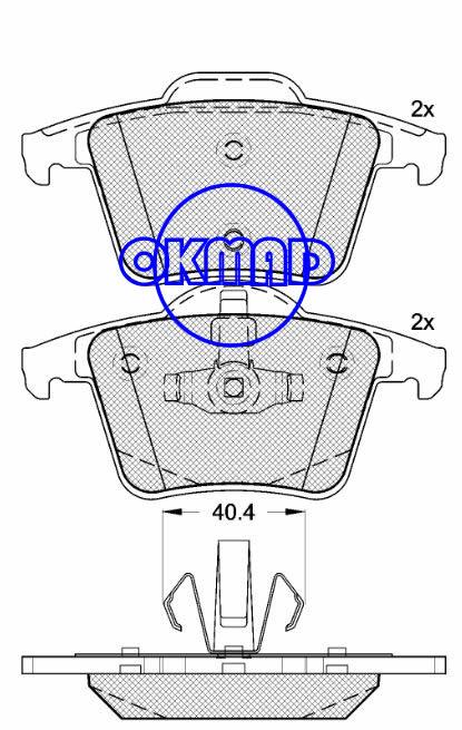 VOLVO XC90 VOLVO (CHANGAN) S40 (MS) Brake pad FMSI:7883-D980 OEM:2743300 FDB1632 TRW:GDB1566 WVA:24011 24012, F980