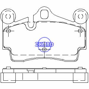 AUDI Q7 PORSCHE Cayenne GTS Turbo VW Touareg TDI Brake pad FMSI:7879-D978 7908-D978 OEM:95535293900 FDB1627 TRW:GDB1549 GDB1653 WVA:23694, F978