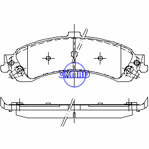 CADILLAC Escalade CHEVROLET TRUCK GMC TRUCK Sierra Yukon Brake pad FMSI:7707-D975 7707-D834 OEM:18044202, F975