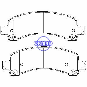CADILLAC ESCALADE CHEVROLET TRUCK Express GMC TRUCK Savana Yukon Brake pad FMSI:7875-D974 7989-D974 OEM:88992627 89056378, F974