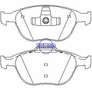 FORD FIESTA FOCUS SVT Estate TOURNEO CONNECT TRUCK TRANSIT CONNECT Brake pad FMSI:7871-D970 OEM:1355950 FDB1568 TRW:GDB1532 WVA:23440 23441, F970