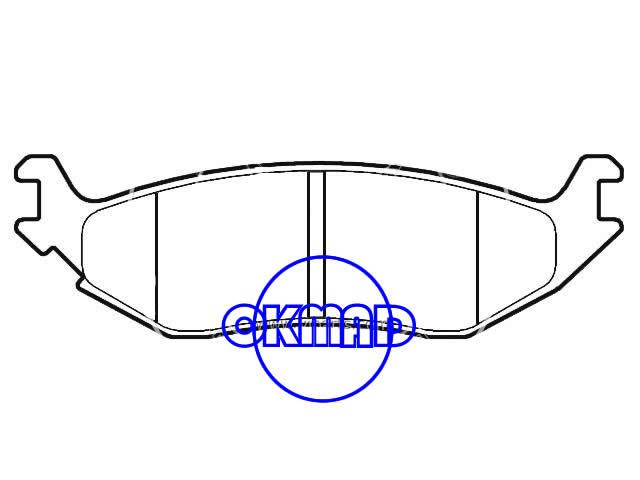 CHRYSLER Aspen DODGE TRUCK Durango Ram Brake pad FMSI:7869-D967 7967-D967 OEM:5080563AB, F967