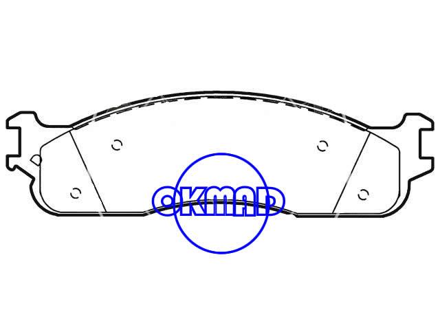 DODGE TRUCK Ram 1500 2500 3500 Brake pad FMSI:7864-D965 OEM:5093267AA, F965