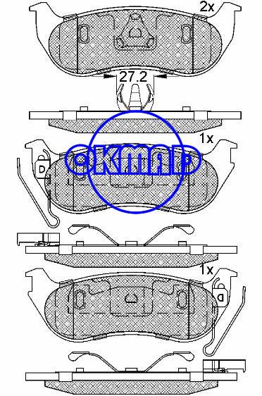 JEEP Liberty Wrangler Brake pad FMSI:7863-D964 OEM:5093511AB, F964