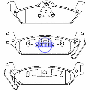 DODGE TRUCK Dakota 2003-2004 Brake pad FMSI:7862-D963 OEM:5093253AA, F963