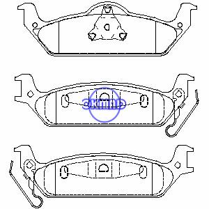 DODGE TRUCK Dakota 2003-2004 Brake pad FMSI:7862-D963 OEM:5093253AA, F963