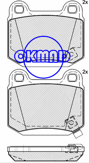 INFINITI G35 MITSUBISHI Lancer NISSAN 350Z SUBARU Impreza Brake pad FMSI:7859-D961 OEM:MR407391 FDB1562 TRW:GDB3350 WVA:21580, F961