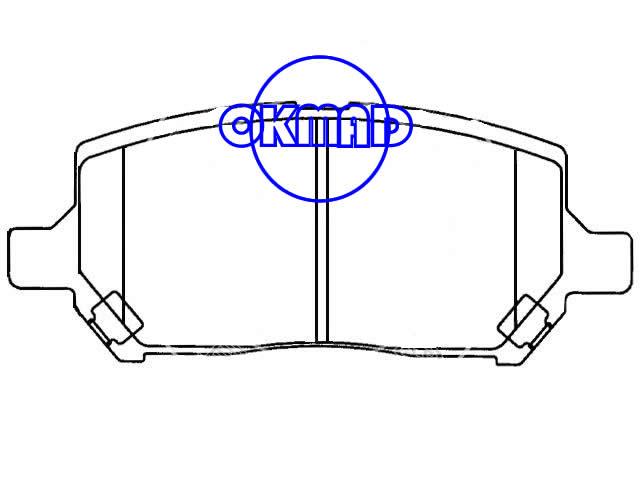 CHEVROLET Cobalt PONTIAC G5 Pursuit SATURN Ion-1 Ion-2 Ion-3 Brake pad FMSI:7855-D956 OEM:22688646, F956