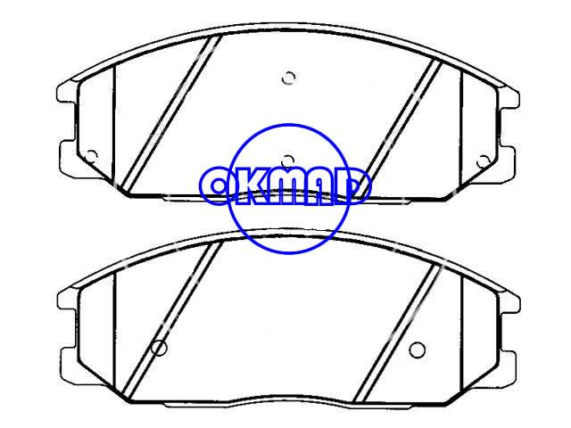 KIA Sorento Brake pad FMSI:7854-D955 OEM:58101-3EU00 WVA:24068, F955