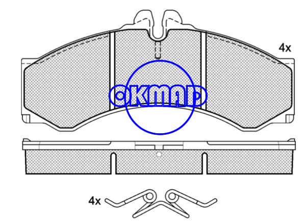 MERCEDES BENZ SPRINTER 2-t 3-t Bus Platform/Chassis VW LT Mk II Box Bus DODGE TRUCK Sprinter Brake pad FMSI:7849-D949 8246-D1136 OEM:05103556AC FDB1043 TRW:GDB1288 WVA:29076 29153, F949