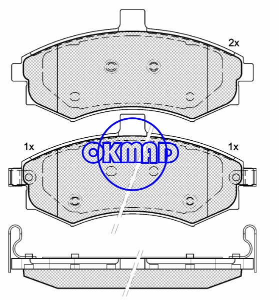HYUNDAI ELANTRA Saloon (XD) MATRIX (FC) Brake pad FMSI:7843-D941 OEM:58101-2DA30 FDB1840 TRW:GDB3378 WVA:24031 24032 24033, F941