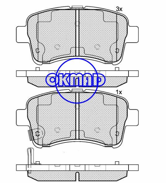 SUZUKI LIANA (ER) Aerio Brake pad FMSI:7839-D937 OEM:55810-54G11 WVA:24830, F937