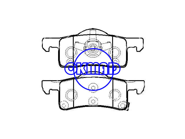 LINCOLN Navigator FORD TRUCK Expedition Brake pad FMSI:7838-D935 OEM:2LIZ-2200-AA WVA:24440, F935(中)