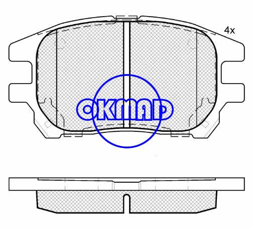 LEXUS RX (MCU15) RX300 Brake pad FMSI:7833-D930 OEM:04465-48040 WVA23929, F930