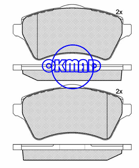 LAND ROVER Freelander Soft Top RANGE ROVER III Brake pad FMSI:7827-D926 OEM:SFP000010 FDB1473 TRW:GDB1473 WVA23615, F926