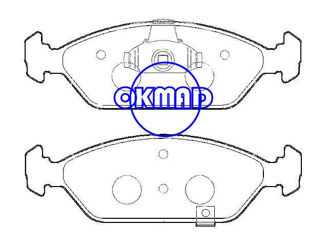 KIA Sephia 1994-1999 Spectra 2000 Brake pad FMSI:7826-D925 OEM:OK2AZ-33-23Z, F925