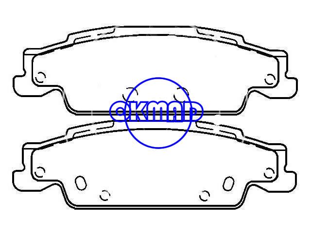 CADILLAC CTS STS (SGM) SLS Brake pad set FMSI:7823-D922 OEM:85735537 WVA24304, F922