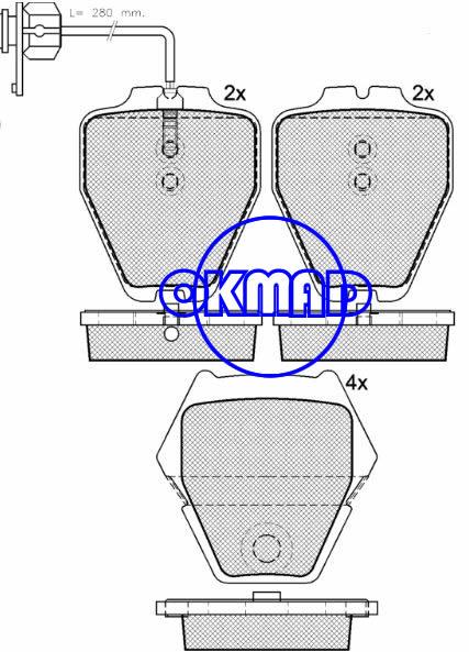 VOLKSWAGEN Passat AUDI A4 A6 A8 Allroad Quattro S4 S6 Brake pad FMSI:7725-D912 OEM:3D0698151B FDB1709 TRW:GDB1381 GDB1505 WVA23118 23119 23280 23830, F912