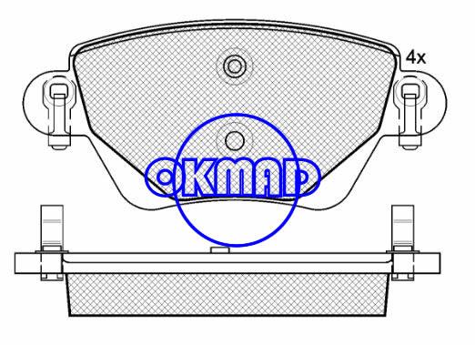 FORD MONDEO III Estate Saloon JAGUAR X-TYPE Estate RENAULT KANGOO Express Brake pad FMSI:7790-D911 OEM:1227108 FDB1416 TRW:GDB1435 GDB1509 WVA23557, F911