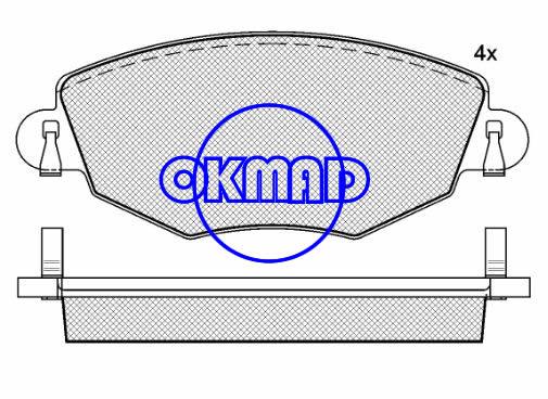 FORD MONDEO III Estate Saloon JAGUAR X-TYPE Estate Brake pad FMSI:7789-D910 OEM:C2S17129 FDB1425 TRW:GDB1434 WVA23278 23279, F910