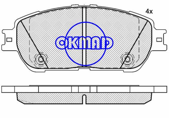 LEXUS ES300 ES330 TOYOTA Avalon Camry Sienna Solara Tacoma RWD Brake pad FMSI:7785-D906 7896-D906 OEM:04465-33270 TRW:GDB7677 WVA23855, F906
