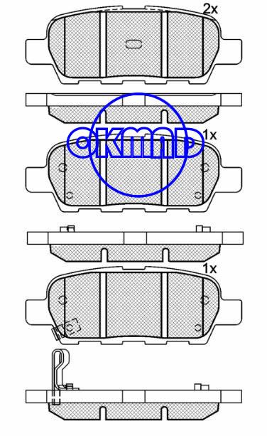 NISSAN CUBE MURANO QASHQAI TIIDA Hatchback Saloon X-TRAIL RENAULT KOLEOS SUZUKI GRAND VITARA INFINITI EX35 2008-2010 INFINITI FX35 FX45 G35 G37 Brake pad FMSI:7784-D905 8405-D1288 OEM:44060-8H385 FDB1693 FDB1708 FDB4324 TRW:GDB3294 GDB3393 GDB3507 WVA23814 23871 24088 24453, F905