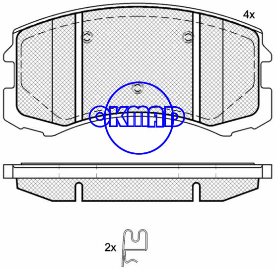 MITSUBISHI LANCER Estate Saloon Brake pad FMSI:7782-D904 OEM:MR569225 FDB1886 TRW:GDB7618 GDB7651 WVA24291, F904